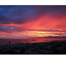 Exciting Sunset 7-18-12 in Los Angeles Photographic Print