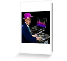 """DJ Frank Sinatra """"The Voice of the World"""" Greeting Card"""