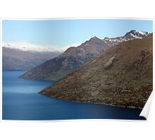 Lake Wakatipu from Queenstown NZ Poster