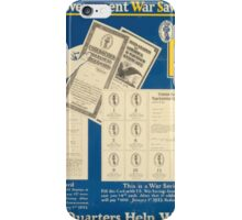 Buy US government War Savings Stamps 25centsstarts you Let your quarters help win the war 002 iPhone Case/Skin