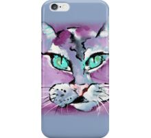 Mr. Purple Mika Cat - Animal Art by Valentina Miletic iPhone Case/Skin