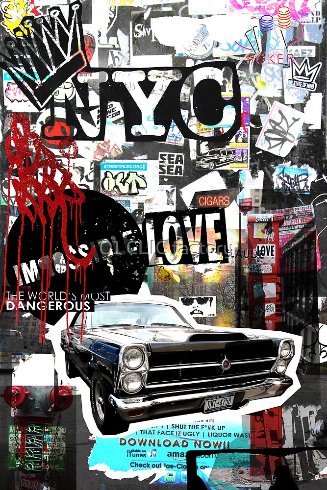 Ny street collage 01 by PASLIER Morgan