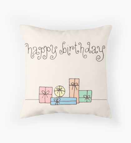 Happy Birthday!! Throw Pillow