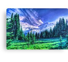 Painterly Mount Rainier Canvas Print