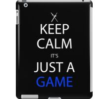 sword art online keep calm it's just a game anime manga shirt iPad Case/Skin