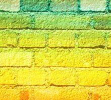 rainbow bricks Sticker