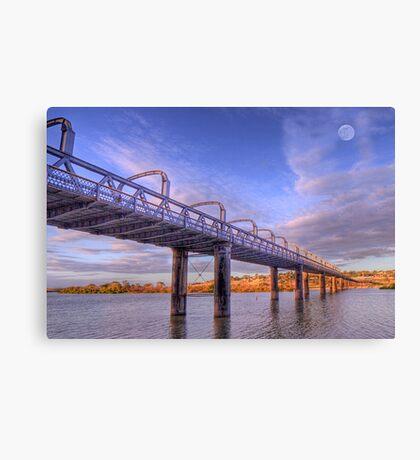 Into Infinity - Motor Bridge at Murray Bridge, South Australia Canvas Print