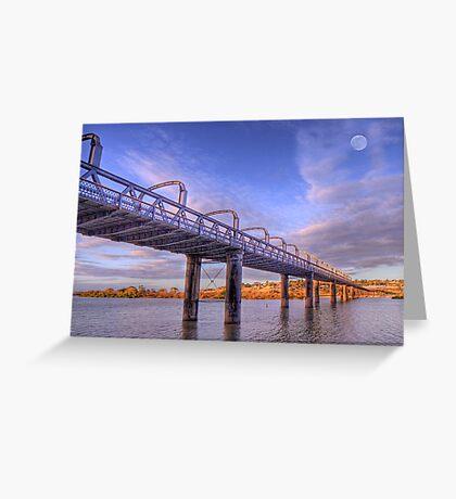 Into Infinity - Motor Bridge at Murray Bridge, South Australia Greeting Card