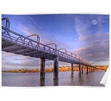 Into Infinity - Motor Bridge at Murray Bridge, South Australia Poster