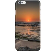 Sunset over the ocean iPhone Case/Skin