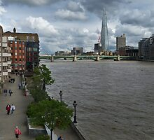 Shard and Thames waterfront by Gary Eason + Flight Artworks