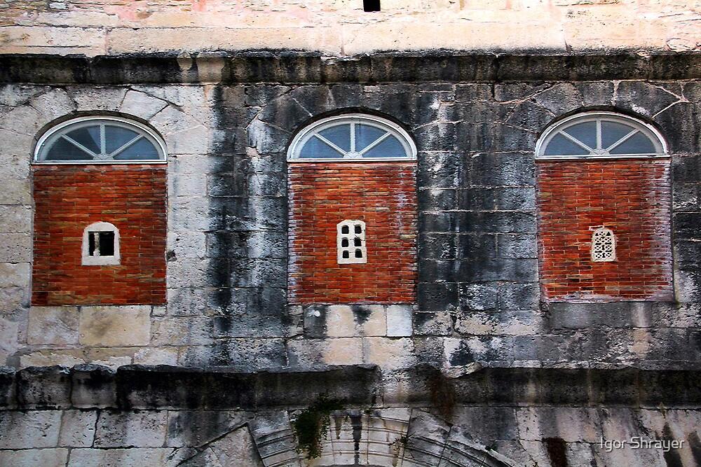The Essence of Croatia - Three Windows of Diocletian's Palace by Igor Shrayer