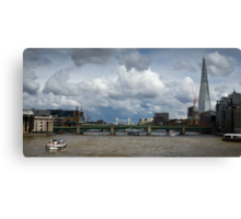 Thames view with Shard Canvas Print