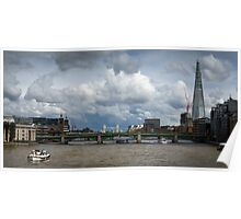 Thames view with Shard Poster