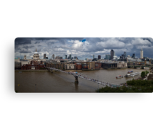 St Paul's and the City of London panorama Canvas Print
