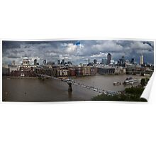 St Paul's and the City of London panorama Poster