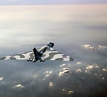 Vulcan over the Channel by Gary Eason