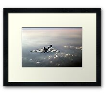 Vulcan over the Channel Framed Print
