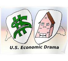 US Economic Drama cartoon Poster