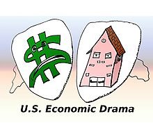 US Economic Drama cartoon Photographic Print