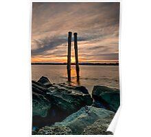 Sunset Poles Poster
