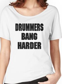 DRUMMERS BANG HARDER (DAVE GROHL, TAYLOR HAWKINS) Women's Relaxed Fit T-Shirt