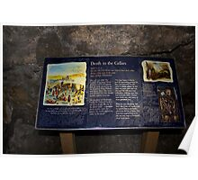 Signboard in the cellars of the Edinburgh Castle Poster