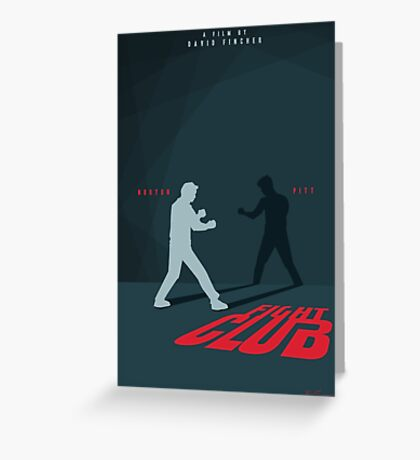 Fight Club Silhouette - Minimal Poster Art  Greeting Card