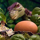 Lego T-Rex egg by Kevin  Poulton - aka 'Sad Old Biker'
