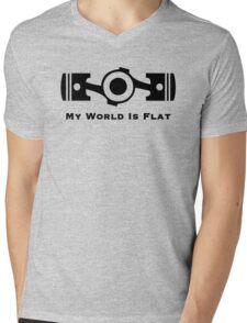 Subaru My World is Flat Mens V-Neck T-Shirt