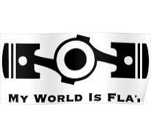 Subaru My World is Flat Poster