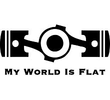 Subaru My World is Flat Photographic Print