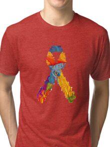 Let's help fight cancer Tri-blend T-Shirt