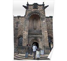 People entering the war museum inside Edinburgh Castle Poster