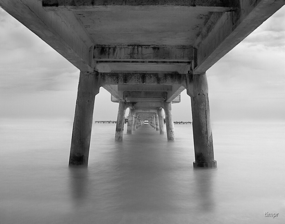 Deal Pier B&W by timpr