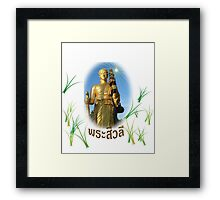 Dharma monk sivalee photos on respect in shirt Framed Print