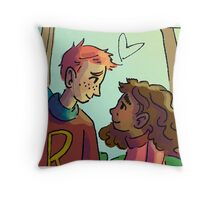 Ron and Hermione Throw Pillow