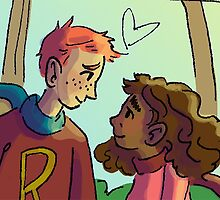 Ron and Hermione by savannawhitlock