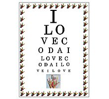 I LOVE CODA Eye Chart Photographic Print