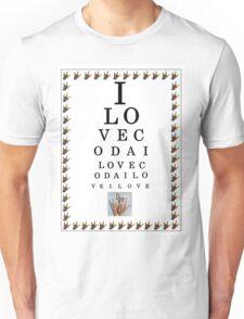 I LOVE CODA Eye Chart Unisex T-Shirt