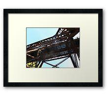 Under the CN bridge Framed Print