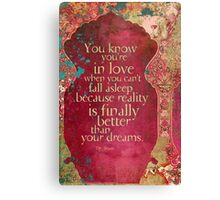 You Know You're in Love... Canvas Print