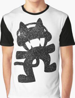 SprayPaint Cat Graphic T-Shirt