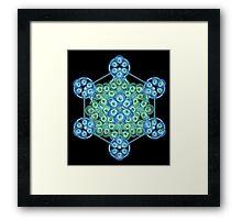 Sacred GeometrEyes Framed Print