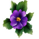 Beautiful Purple Wild Rose Greeting Card by dorcas13