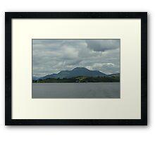 Grey Sky Over Ben Lomond Framed Print