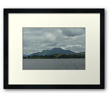 Grey Sky Over Ben Lomond Framed Print
