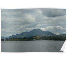 Grey Sky Over Ben Lomond Poster