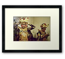 Backstage before the Show Framed Print