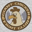 Giant Chicken Fight Club - vintage by Benjamin Whealing